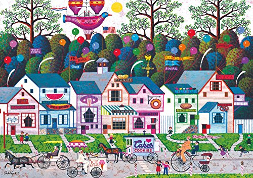 Buffalo Games - Charles Wysocki - Confection Street - 500 Piece Jigsaw Puzzle by Buffalo Games