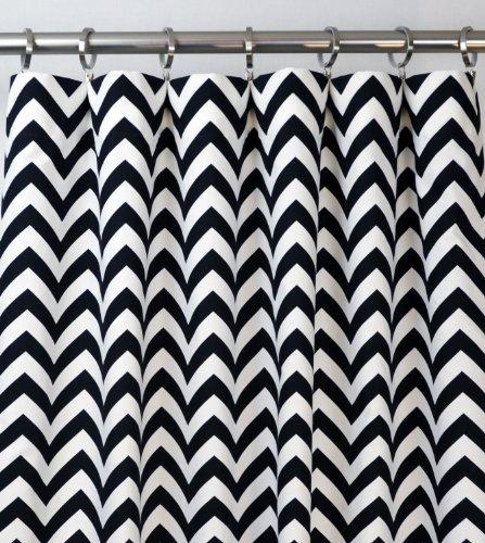 Charming Amazon.com: Black And White Chevron Zig Zag Drape, One Rod Pocket Curtain  Panel 96 Inches Long X 50 Inches Wide: Home U0026 Kitchen