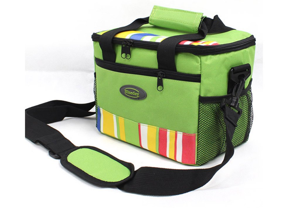 Grandey 7L pranzo borse borsa termica isolata per donne bambini borsa termica lunch box cibo picnic bag a lunga durata Keep Warm o Hold Cool Green