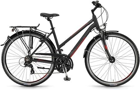 Bicicleta de Trekking Winora Santiago 28 Mujer, Schwarz/Grau/Rot ...