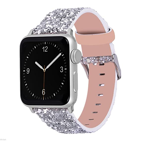 Amazon.com  Wolait Leather Band Compatible with Apple Watch 42mm ... eaf0457fd