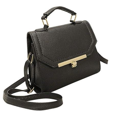 Amazon.com: Bolso de cuero para mujer, marco vintage, bolso ...