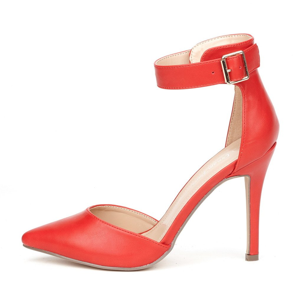 5fe74bcaa92c8 DREAM PAIRS Oppointed-Ankle Womens Pointed Toe Ankle Strap DOrsay High Heel  Stiletto Pumps Shoes. Christmas Holiday