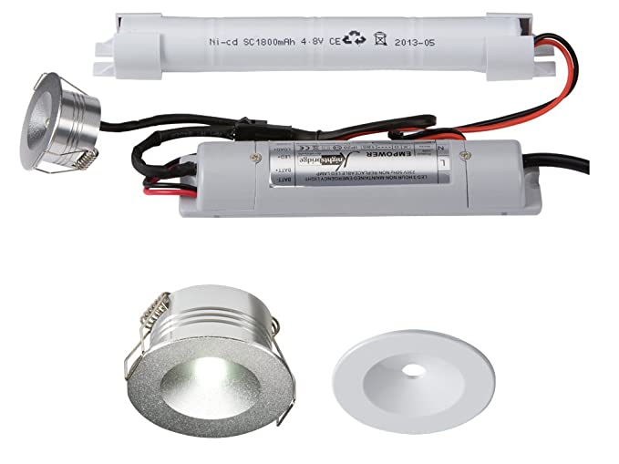 online store 53a13 71b1b Knightsbridge 230V IP20 3W LED Emergency Downlight (Non-maintained use  only), 3 W, White