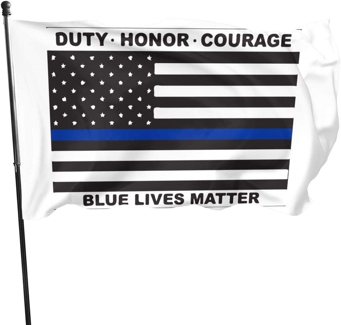 Emonye Flag Outdoor Flags Blue Lives Matter Police Flag 3X5 Ft Flag for Outdoor Indoor Home Decor Sports Fan Football Basketball Baseball Hockey