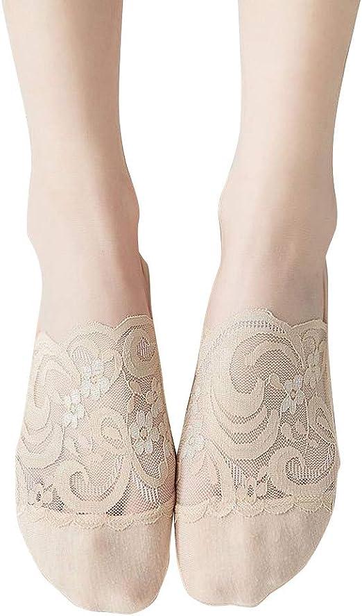 Calcetines De Corte Bajo Invisibles Antideslizantes De Mezcla De Algodón Para Mujer Calcetines De Mujer Calcetines De Tobillo: Amazon.es: Ropa y accesorios
