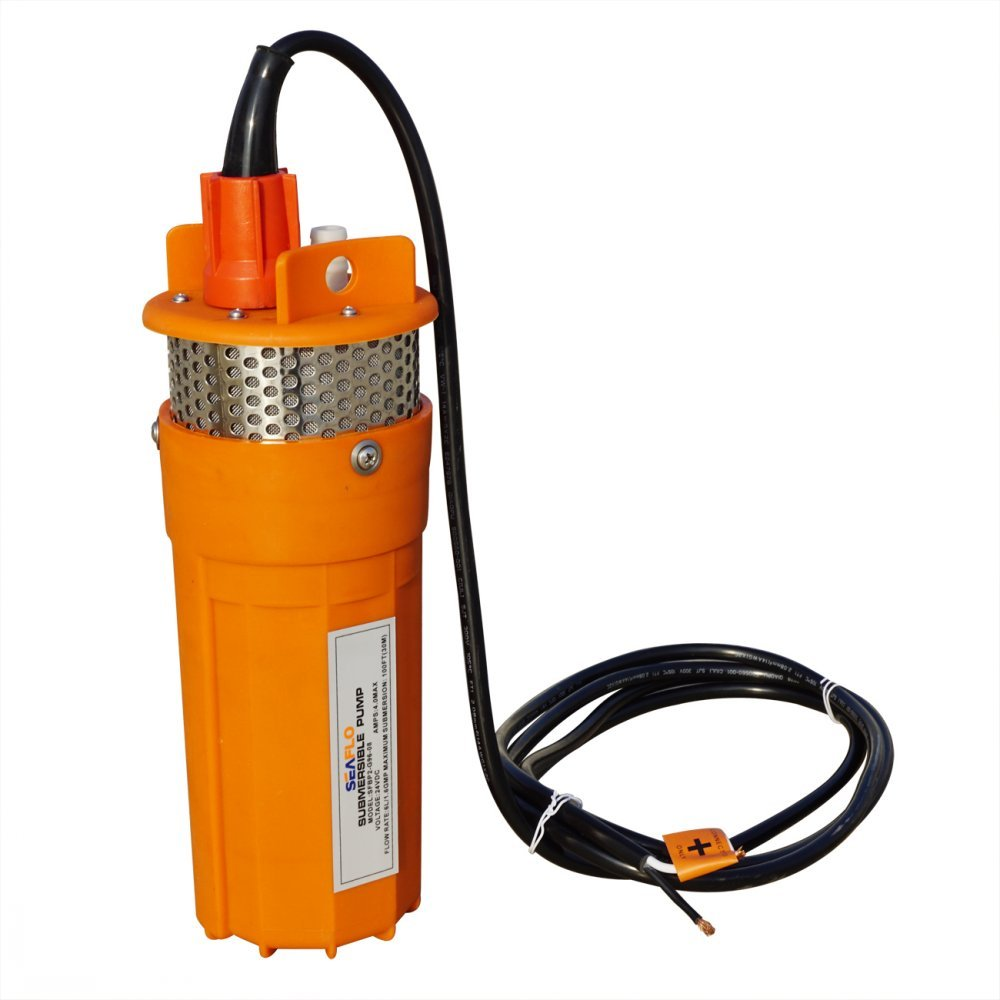 ECO-WORTHY 24V Submersible Deep Well Water DC Pump Farm & Ranch Submersible Deep Well Pump/Alternative Energy Solar Battery