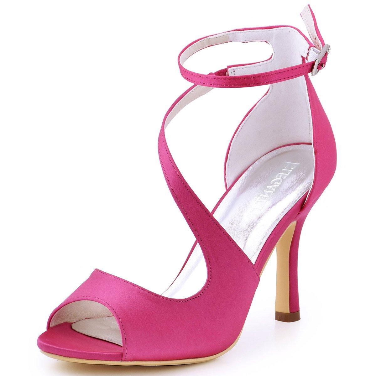 ElegantPark HP1505 Escarpins B000LEQMF2 Femme Bal Bout Ouvert Diamant Hotpink Btide Cheville Boucle Sandales Chaussures de mariee Bal Satin Hotpink d3ba740 - reprogrammed.space