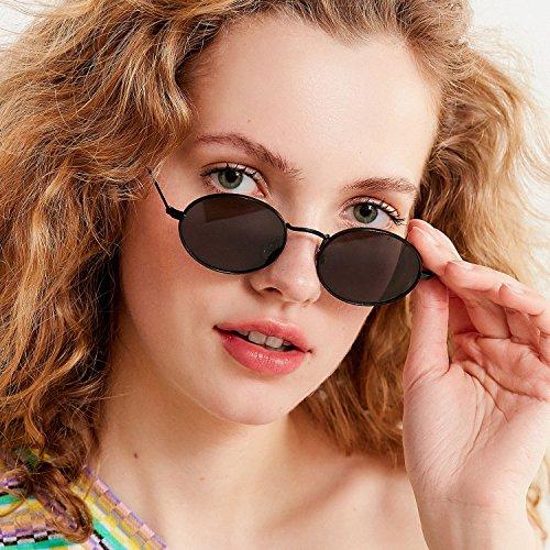 Soleil lens Lunettes 1 frame Black Pour gray de Femmes New ADEWU EBq4Ow
