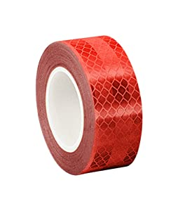 """3M 3432 Red Micro Prismatic Sheeting Reflective Tape, 2"""" x 5 yd (Pack of 2)"""