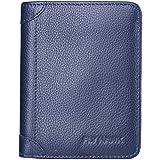 FlyHawk Herren Leder Geldbörse mit RFID Blockierung Schutz Brieftasche Geldtasche Geldbeutel Portemonnaie