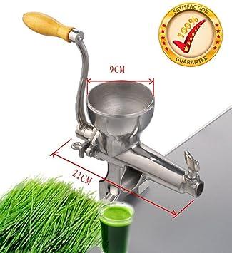 De calidad superior de la prensa en frío manual de acero inoxidable WheatGrass Juicer, extractor