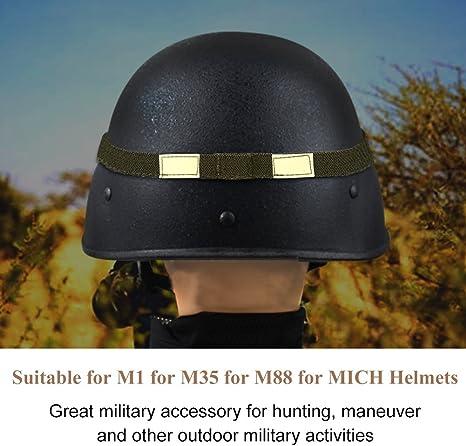 Details about  /Plain Reflective Cat Eyes Camo Strap Helmet Band Military Helmet Accessory HO