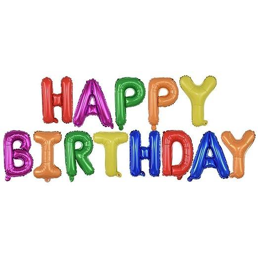 qingtianlove 13Pcs Globos de Feliz cumpleaños Letras de ...