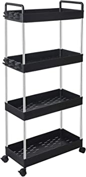 Solejazz Rolling Storage 4-Tier Cart