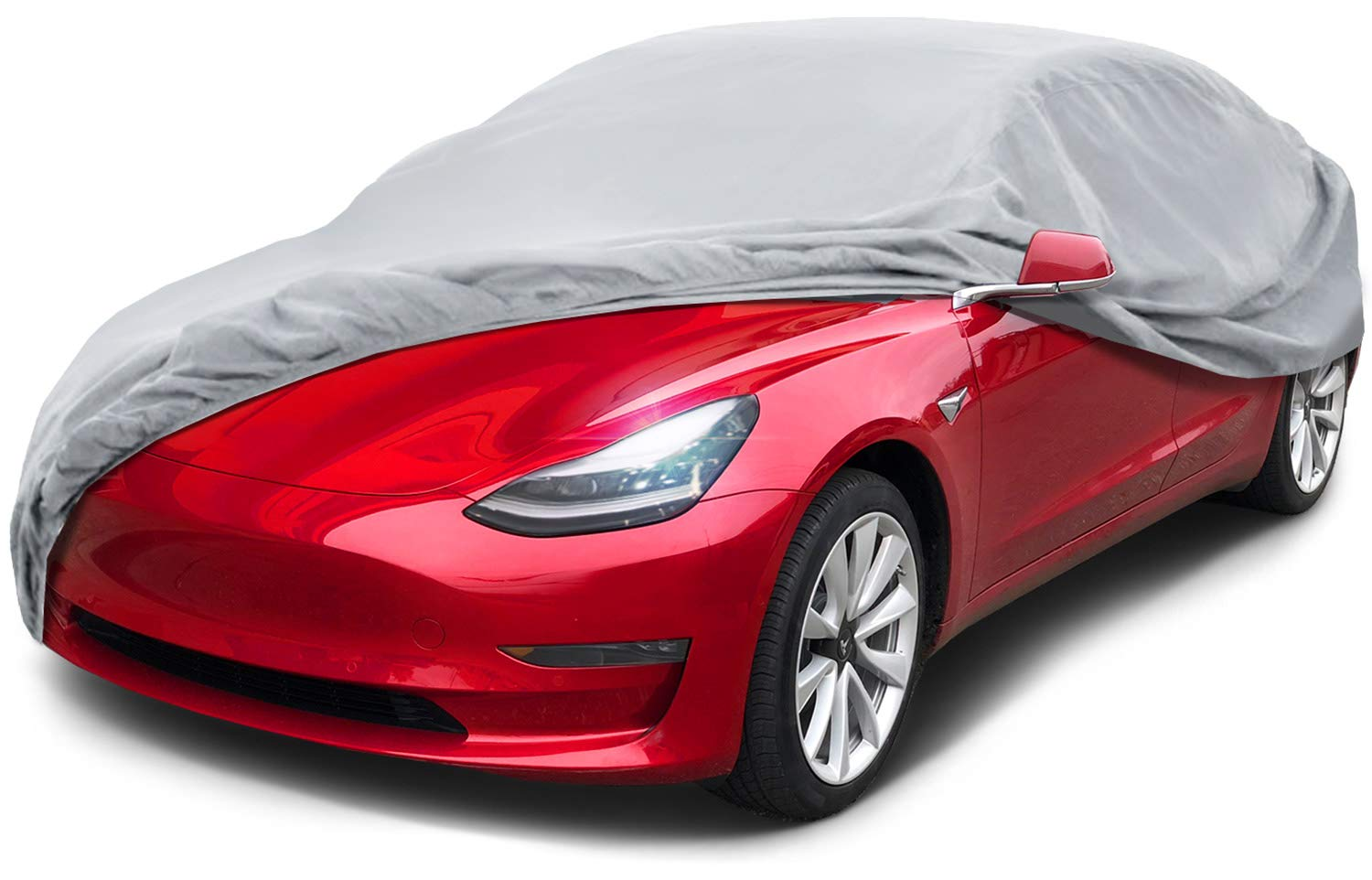 Leader International Basic Guard 3 Layer Breathable Universal Fit Cover (Cars up to 16'8'(200'), Grey 16' 8(200)