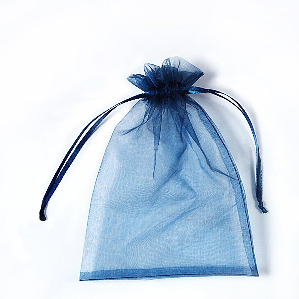 Black Ycool 100 st/ück 16x22cm Organzabeutel,Organza Geschenk Schmuck Beutel Wrap Drawstring Taschen f/ür Hochzeit Weihnachten