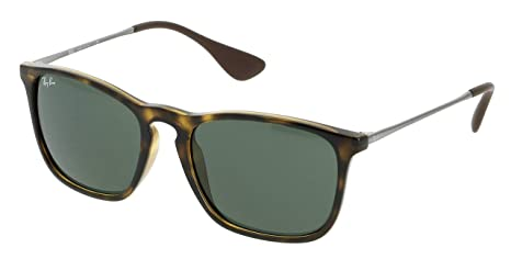 806f037bc7 Image Unavailable. Image not available for. Colour  Ray-Ban Sunglasses  Chris 4187 710 71 Tortoise   Gunmetal Green