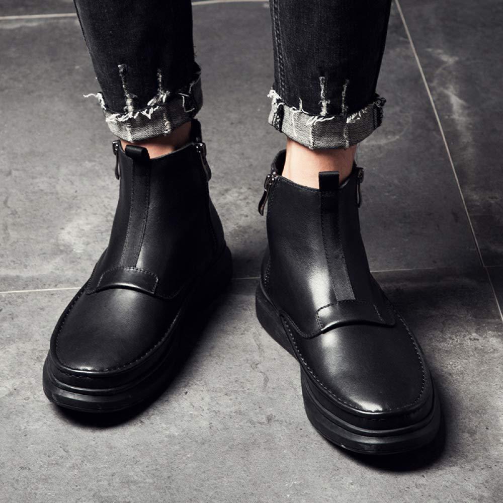 WDYY Otoño E E E Invierno Martin Botas British Zapatos De Tacón Alto 8e2722