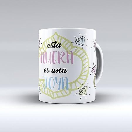 APRIL Taza cerámica Desayuno Regalo Original cumpleaños nuera Esta nuera es una Joya
