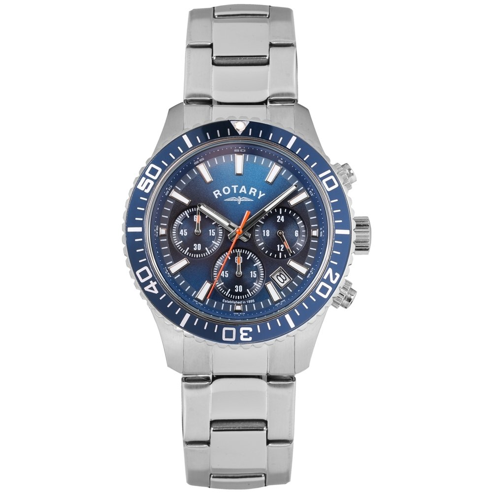 1a34c1d7ce60 Rotary Mens GB00358 05 Silver Chronograph Watch  Amazon.co.uk  Watches