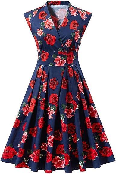Jersey vestido de tiempo libre vestido de verano vestido vestido estampadas talla 48 nuevo