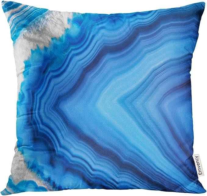 Agate Gem Slice Pillowcase Home Life Cotton Cushion Case 18 x 18 inches