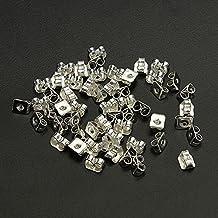 50Pcs Silver Butterfly Earring Backs Stoppers Jewelry Earnuts