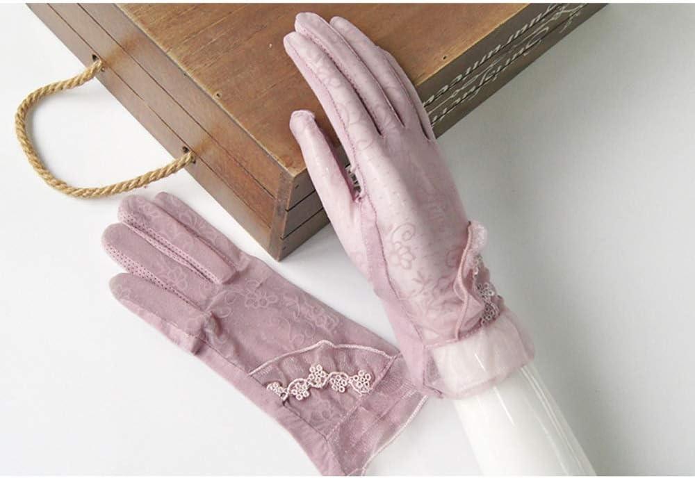 Jamkf Guanti di Pizzo Corta Openwork in Pizzo con frangivetta da Donna Modello Femminile Che scivola sulla Cintura Traspirante
