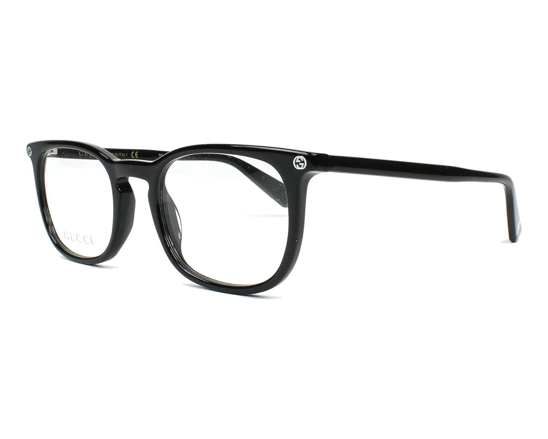 e956de2983e Amazon.com  Gucci GG 0122O 001 Black Plastic Square Eyeglasses 50mm  Health    Personal Care