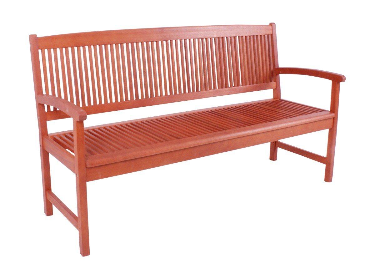3 Sitzer Garten Bank Holz geölt - wunderschöne hochwertige Parkbank aus Eukalyptus Echtholz geölt 3er Bank