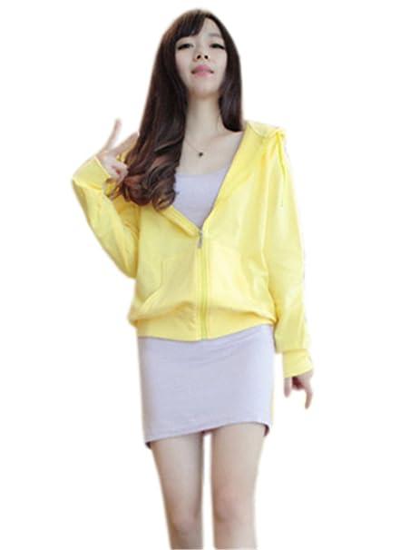 COCO clothing Chaquetas con Capucha de Mujer Deportivas Sweatshirt Casual Cardigans Manga Larga Jersey Abrigos con