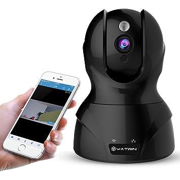 720P HD Cámara de vigilancia wifi, cámara IP inalámbrico interior, visión remota de día