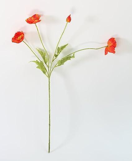 Amazon Luckup 3 Stems Beautiful Artificial Poppy Silk Flowers