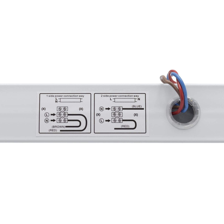 Regleta Blanco Fr/ío 6000K-6500K efectoLED Kit Tubo LED T8 Nano PC 1200mm 18W 130lm//W