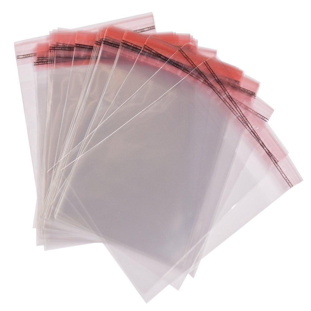 500 Transparente Bolsas de celofán que uno mismo sellar con tapa Peel & Seal bolsas tamaño 5 cm x 10 cm + 3 cm solapa
