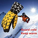 FidgetFidget Gloves for Outdoor Adult Winter Warm Waterproof Windproof Snow Snowboard Ski Sports Yellow