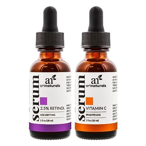 ArtNaturals Set De Sérums De Vitamina C Y De Retinol, (x2) 30 ml.
