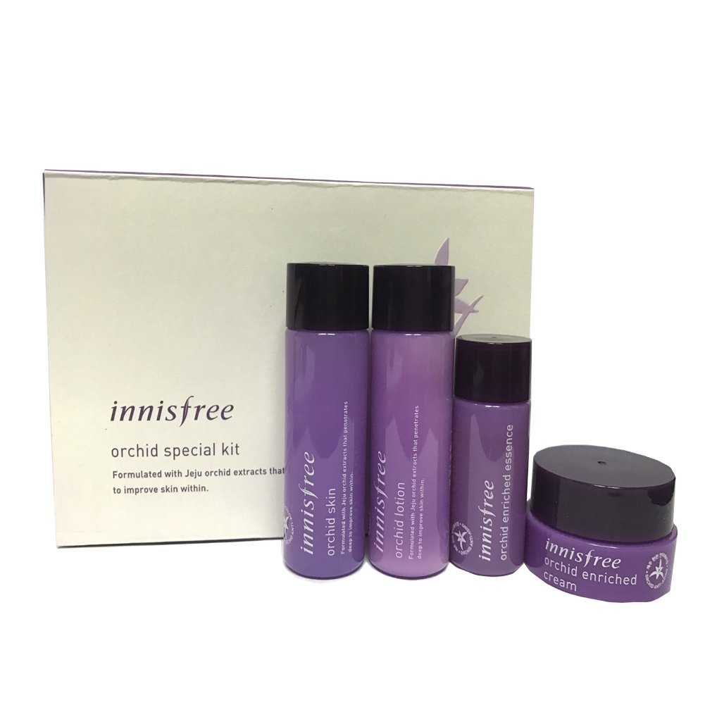 Innisfree Orchid Skin Care Special Kit 4 Item (Skin/lotion/Cream/Essence/Cream)
