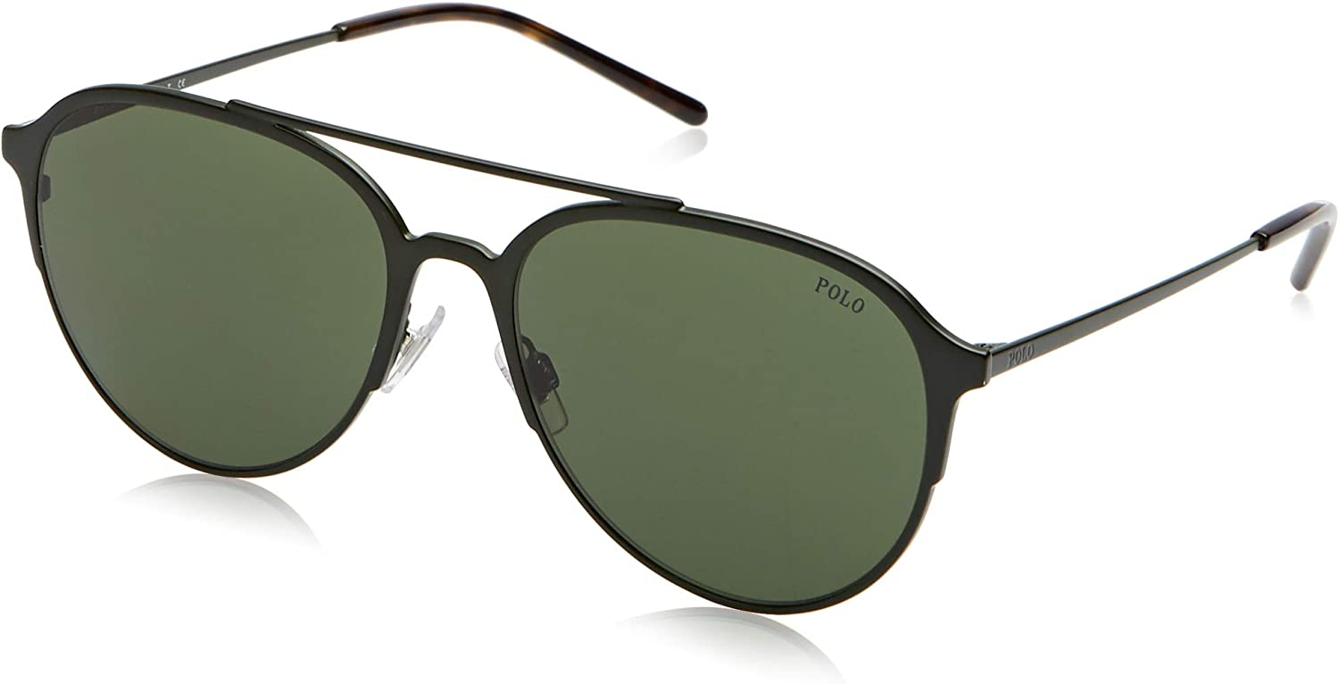 Polo 0PH3115 Gafas de sol, Aviador, 58, Matte Olive Green: Amazon ...