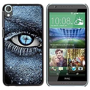 For HTC Desire 820 Case , Frost Black Blue Deep Meaning Clean - Diseño Patrón Teléfono Caso Cubierta Case Bumper Duro Protección Case Cover Funda