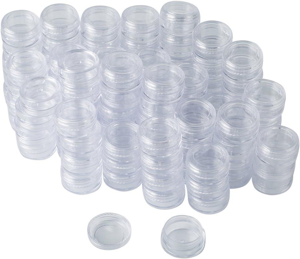 Bekith - Juego de 108 tarros de plástico para cosméticos (3 gramos/3 ml, con tapa)