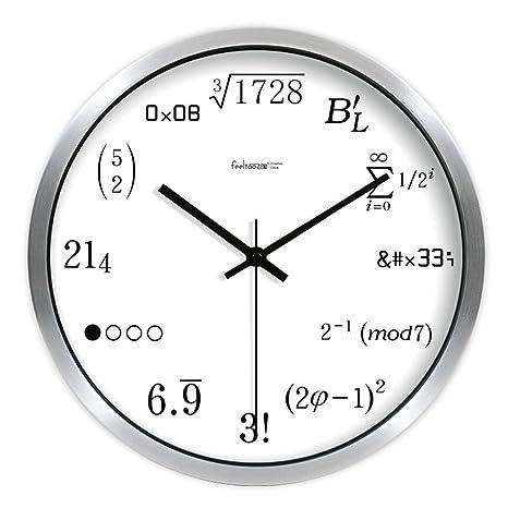 Amazon.com: allensimpleart números reloj de silencio reloj ...