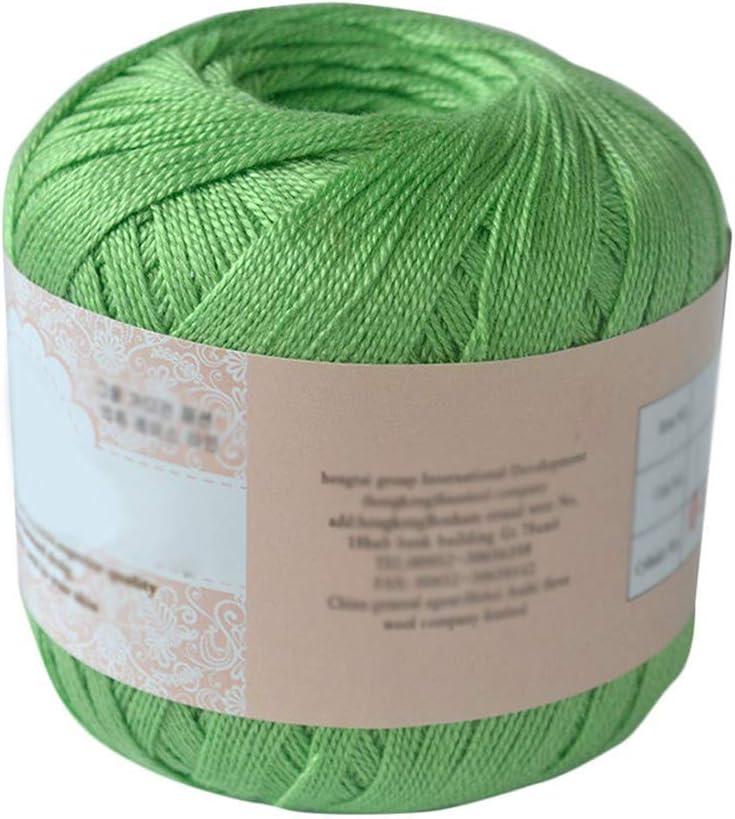 Hilo de algodón mercerizado para bordar, ganchillo, para tejer, joyería de encaje. - geshiglobal. 06#