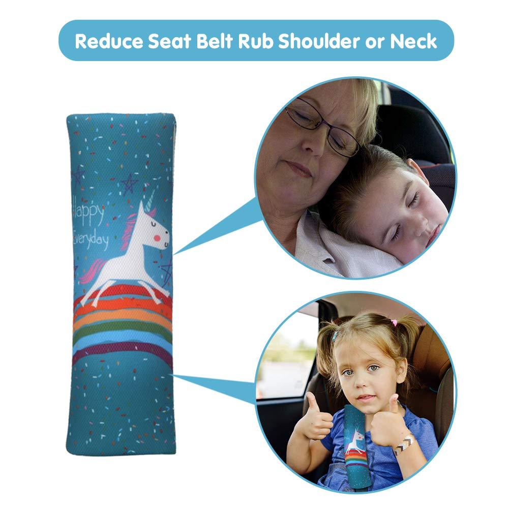 Cuscini per Cintura di Sicurezza per Protezioni per la testa o le spalle Confezione da 2 pezzi Imbottitura Cintura di Sicurezza per Bambini e Adulti CAPUAY Guaine per Cintura di Sicurezza