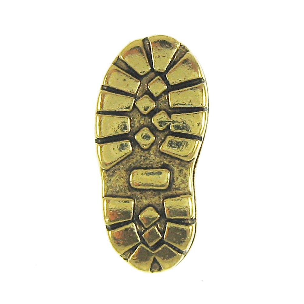 Jim Clift Design Hiking Boot Gold Lapel Pin - 10 Count
