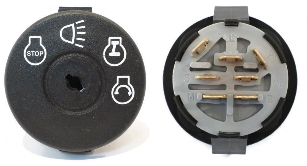 The ROP Shop Ignition Key Switch for AYP Sears Craftsman Roper 163968 Lawn Mower Tractor