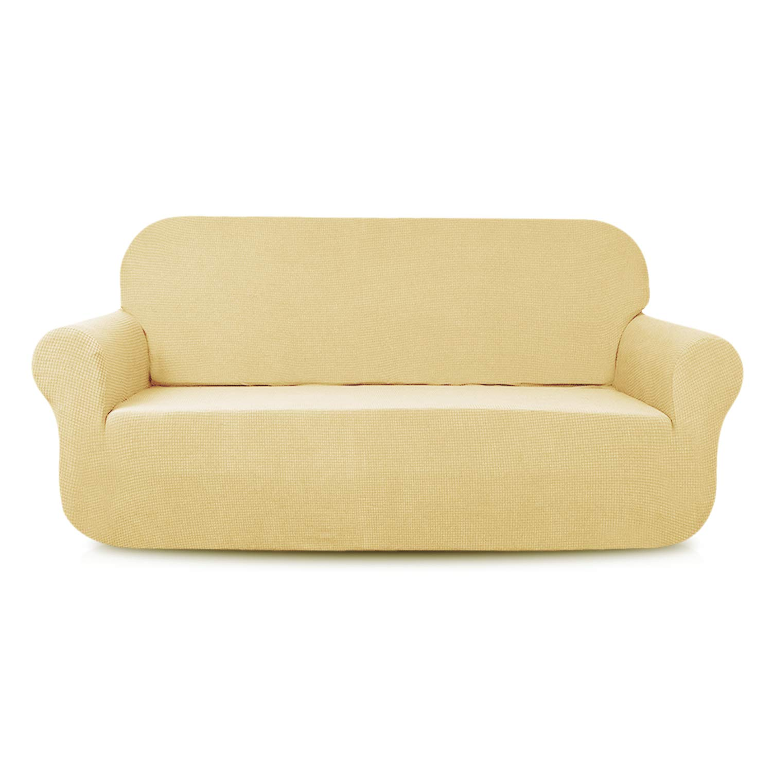 Enjoyable Aujoy Stretch Loveseat Cover Water Repellent Couch Covers Dog Cat Pet Proof Sofa Love Seat Slipcovers Protectors Loveseat Beige Download Free Architecture Designs Scobabritishbridgeorg