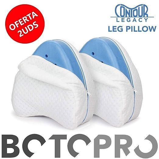 BOTOPRO - Oferta 2 Uds. Contour Legacy Leg Pillow, Almohada ergonómica Comfy para piernas y Cadera. Alivia Dolores y molestias de Espalda y corrige ...