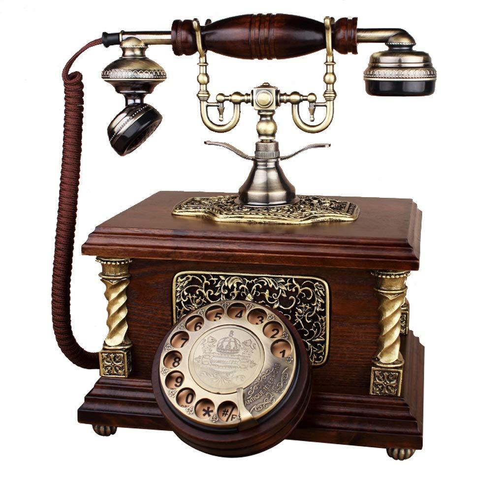アンティークの家の電話 - プッシュボタンと回転式電話 - コード付きレトロ電話 - レトロな装飾的な電話 - ホーム固定電話とオフィスの電話、さまざまなスタイルで利用可能 (三 : Rotating) B07JD8CBTM Rotating